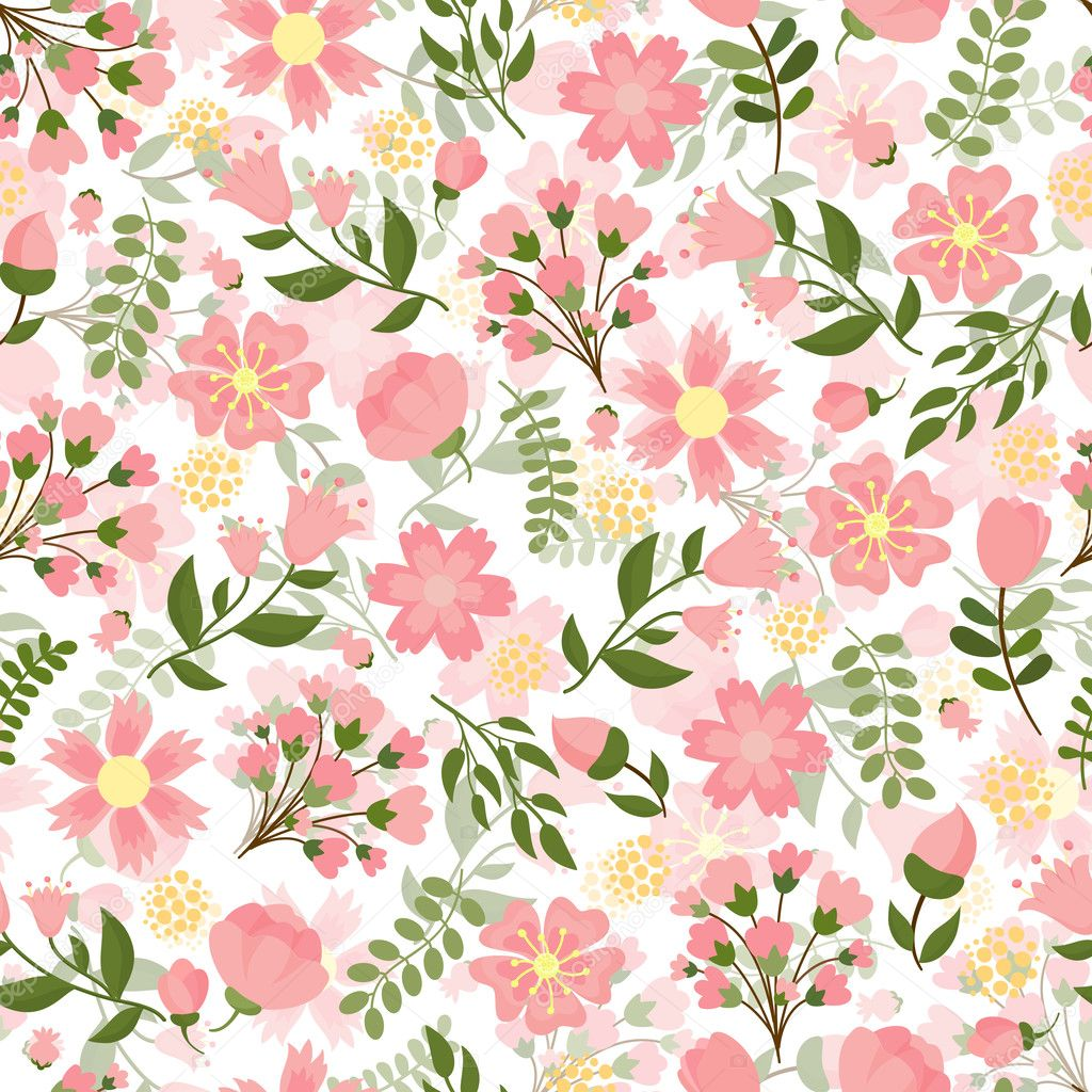 Seamless Spring Floral Background Stock Vector C Mssa 44174177