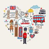 Photo I Love London card design