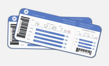 Two boarding passes