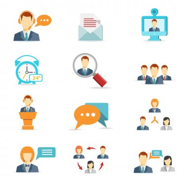 Business communication and web conference icons