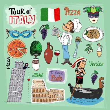Tour of Italy illustration