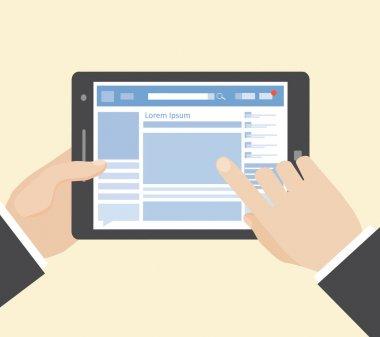 Social network on tablet