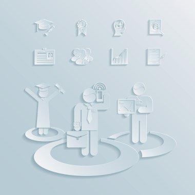 Business career vector illustration