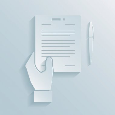 Paper icon of a business offer