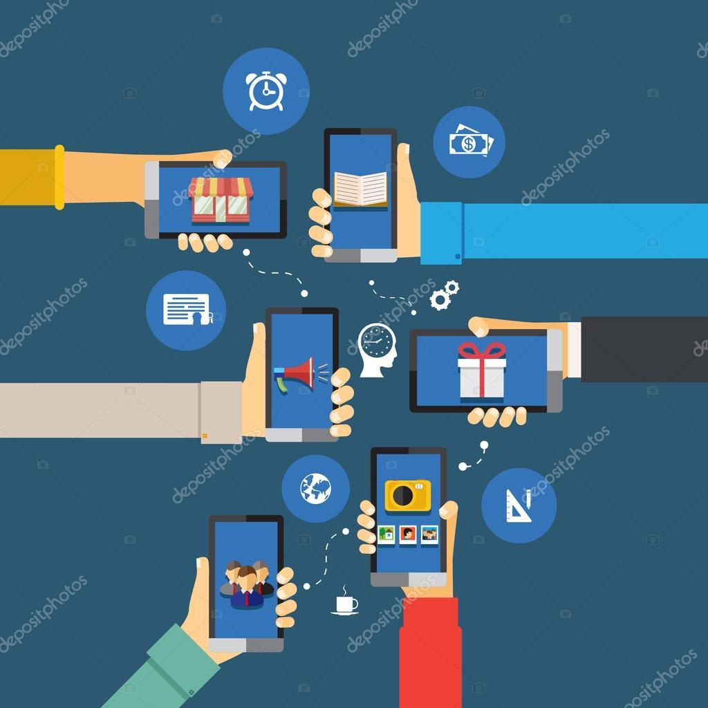 Mobile apps infographics — Stock Vector © MSSA #45910549