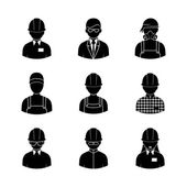 Fotografie workers silhouettes icons