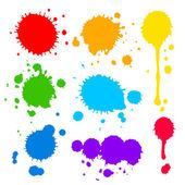 Farbkleckse und Farbkleckse