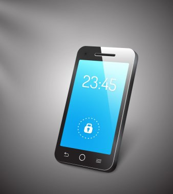 vector 3d mobile phone