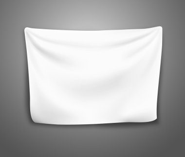 blank banner with pleats