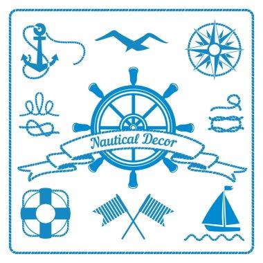 nautical badges and decor