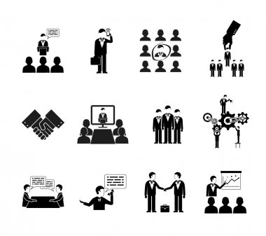 business peoples silhouettes