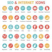 Velká sada ikon seo a internet