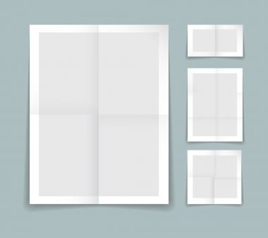 Folded paper vector template