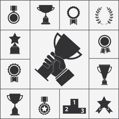 "Картина, постер, плакат, фотообои ""набор трофеев и значков наград "", артикул 48224765"