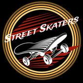 Fotografie Skateboard im Kreis Logo-design