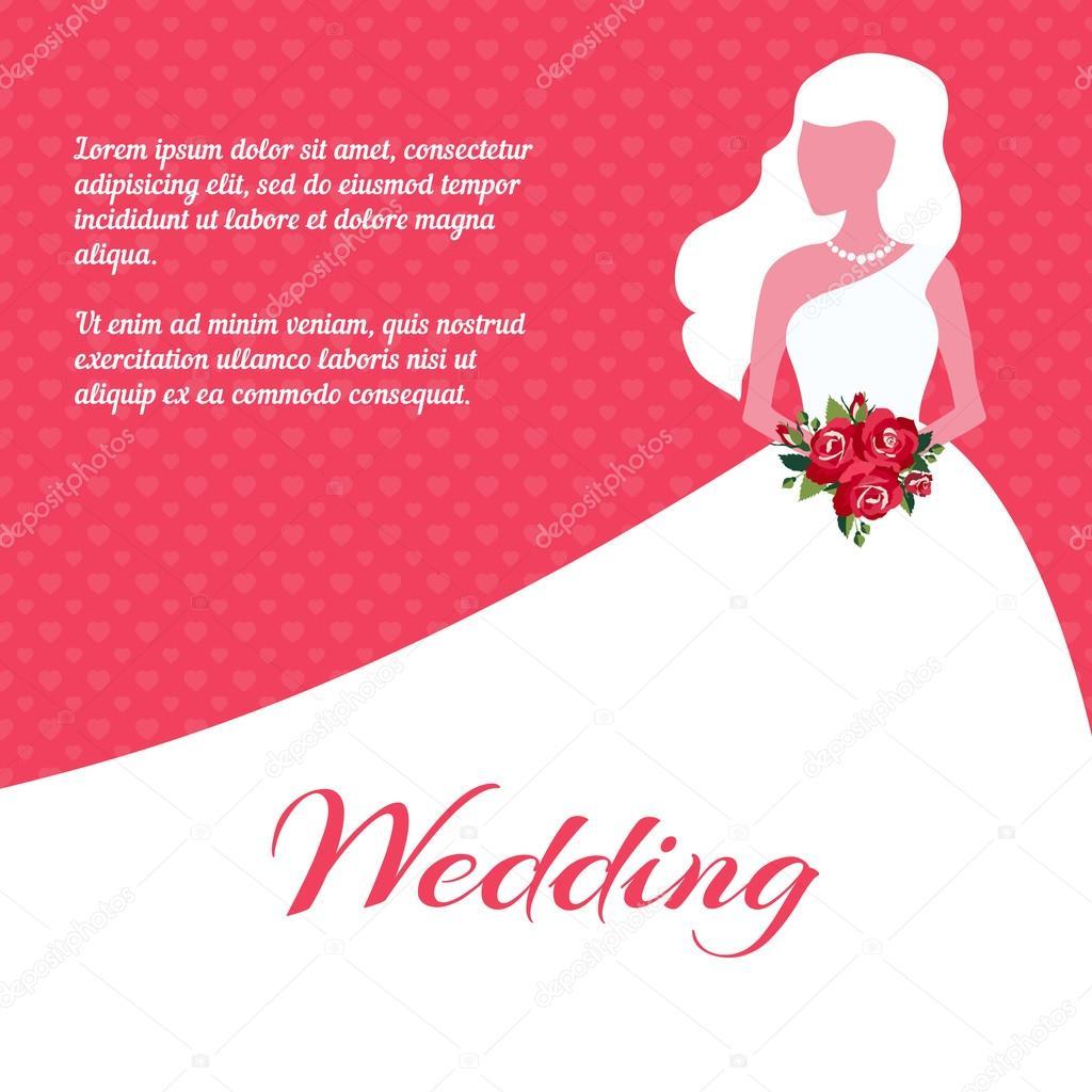 Wedding invitation or card template — Stock Vector © MSSA #48872785