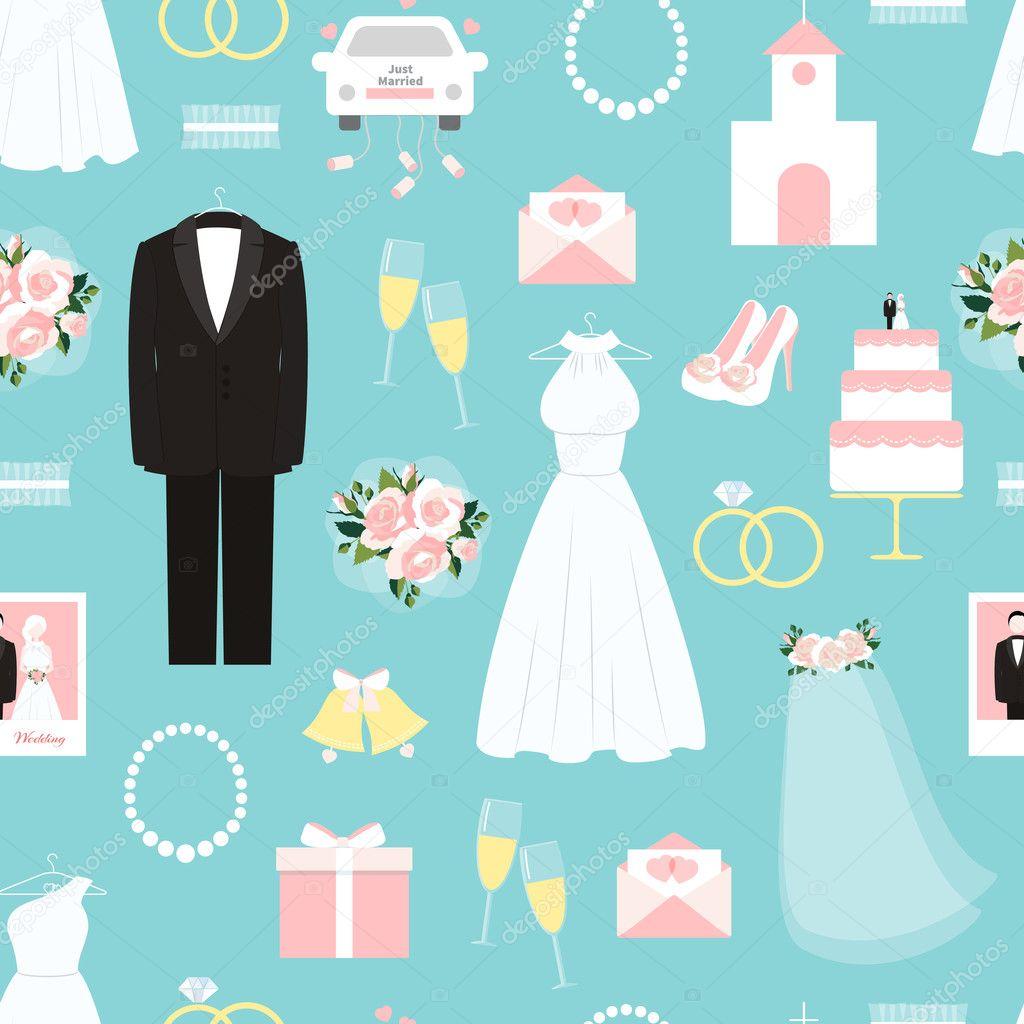 patrón de fondo transparente de la boda — Archivo Imágenes ...