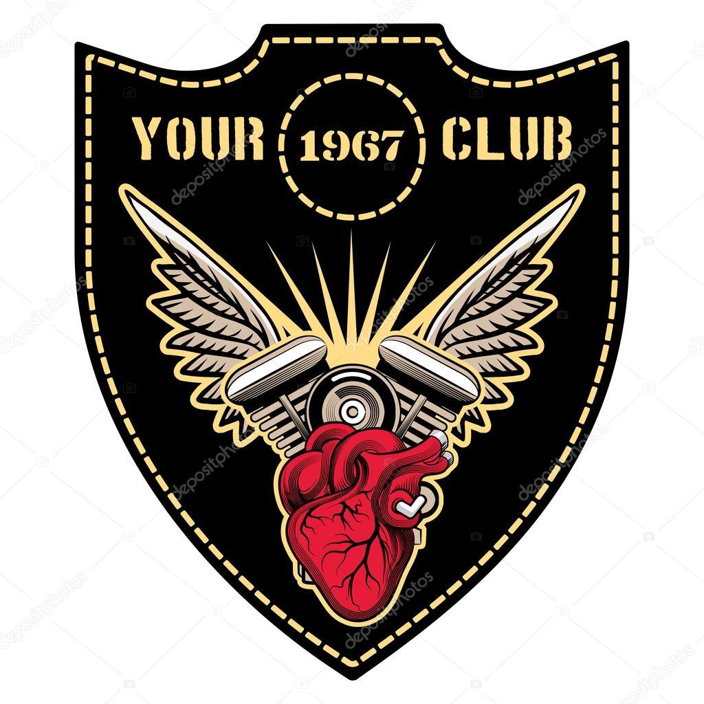 Motor Club Emblem Stock Vector Mssa 49579471
