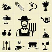 Fotografie farmář v chovu tématikou ikony