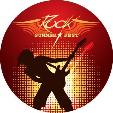 Silhouette of musician playing guitar