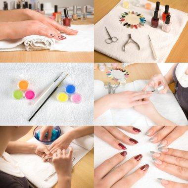 Collage of nail studio