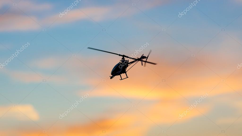Picture of an RC helicopter