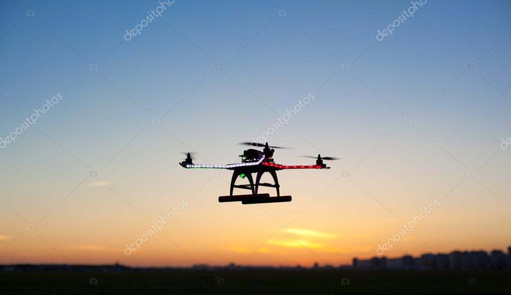 Photo of a quadrocopter