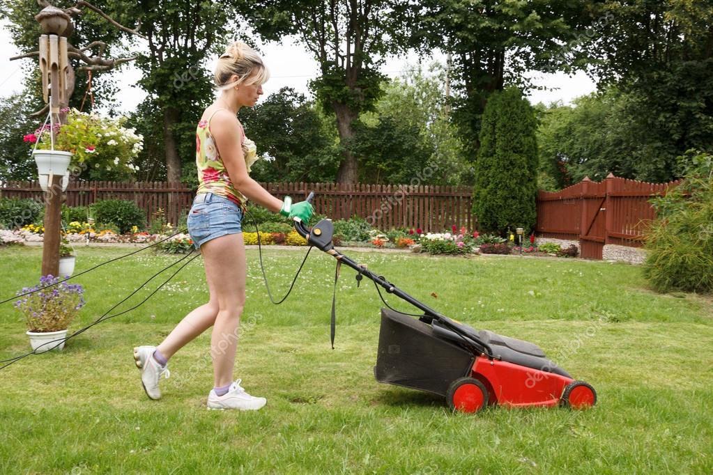 woman cut garden