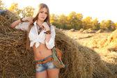 Fotografia Ritratto di donna al campo