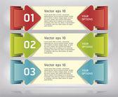 Barevné Origami styl číslo možnosti Banner  Card. vektorové ilustrace