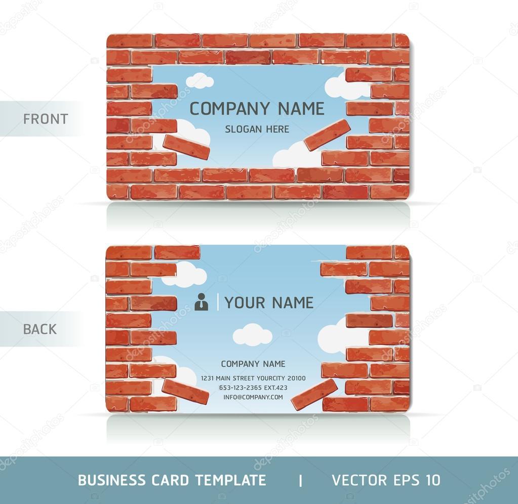 Carte De Visite Mur Briques Rouges Illustration Vectorielle Image