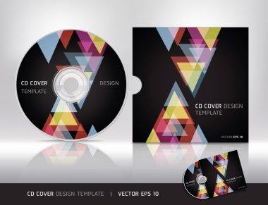Cd cover design template.Vector illustration