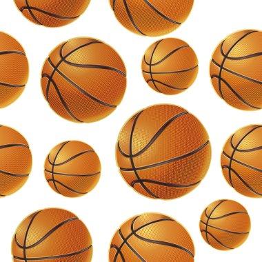 Basket balls Seamless pattern. Vector illustration