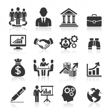 Business icons, management and human resources set stock vector