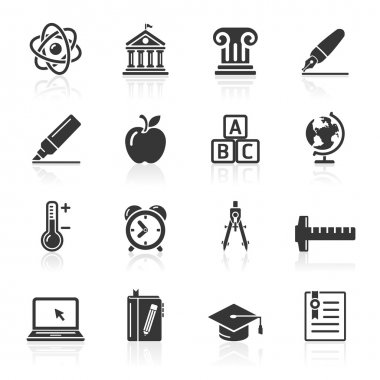 Education Icons set . Vector Illustration.