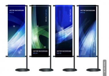 Trade exhibition stand display with Abstract background. Vector