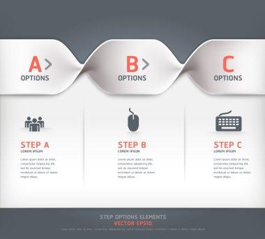 Modern spiral step options banner. Vector illustration. can be u
