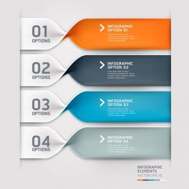 Modern spiral infographics options banner. Vector illustration.