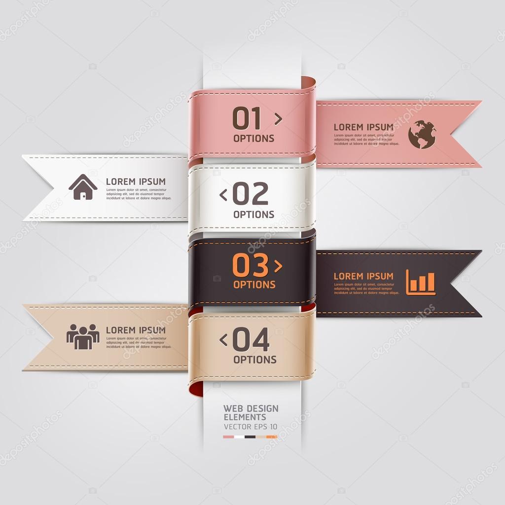 Modern web design template ribbon style.