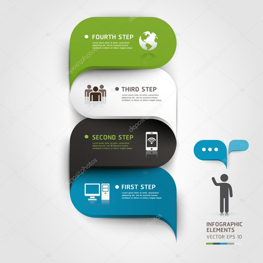 Modern infographics bubble speech template style.