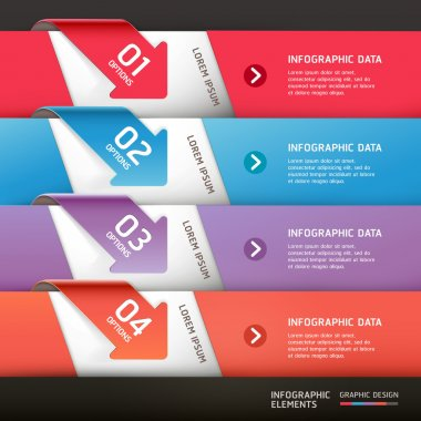 Modern arrow infographics template. Vector illustration.