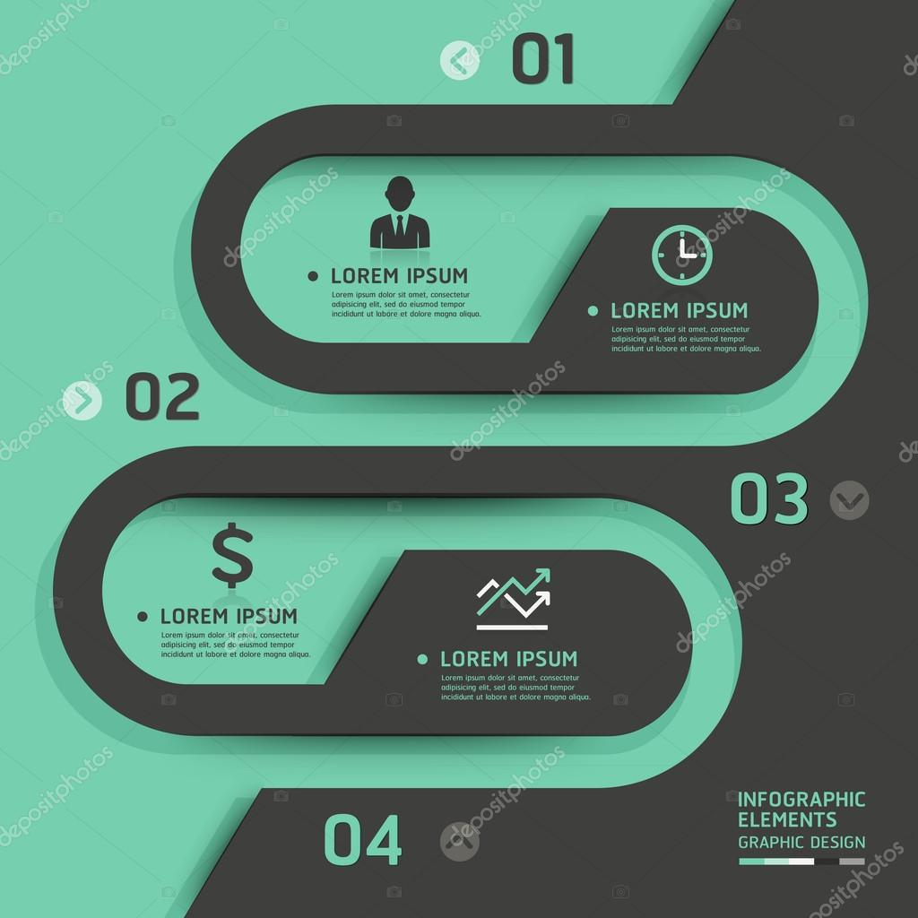 Retro business template style. Vector illustration.