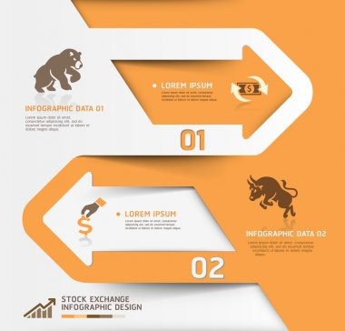 Abstract business stock exchange template.