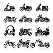 Photo Motorcycle Icons set