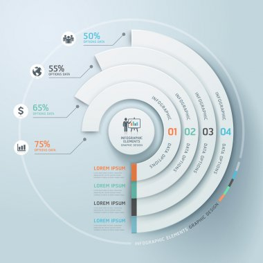 Business Infographics circle origami