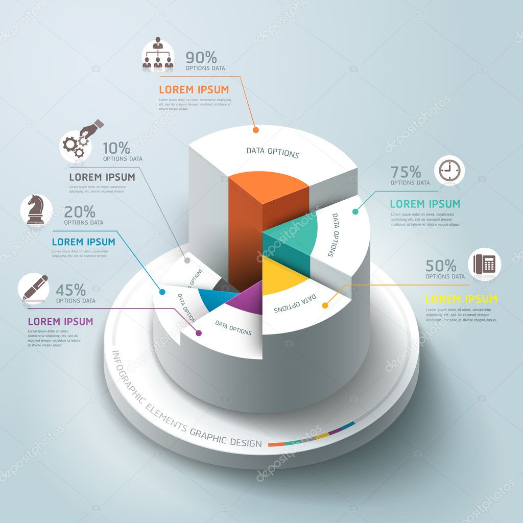 Business Infographics circle graph
