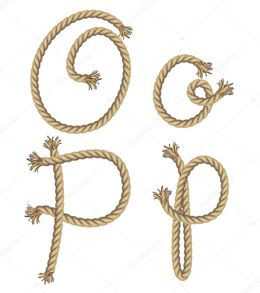 Rope alphabet.