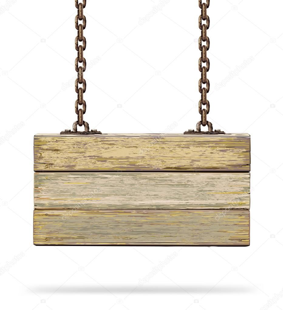 Old color wooden board