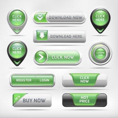 Web Elements Button Set