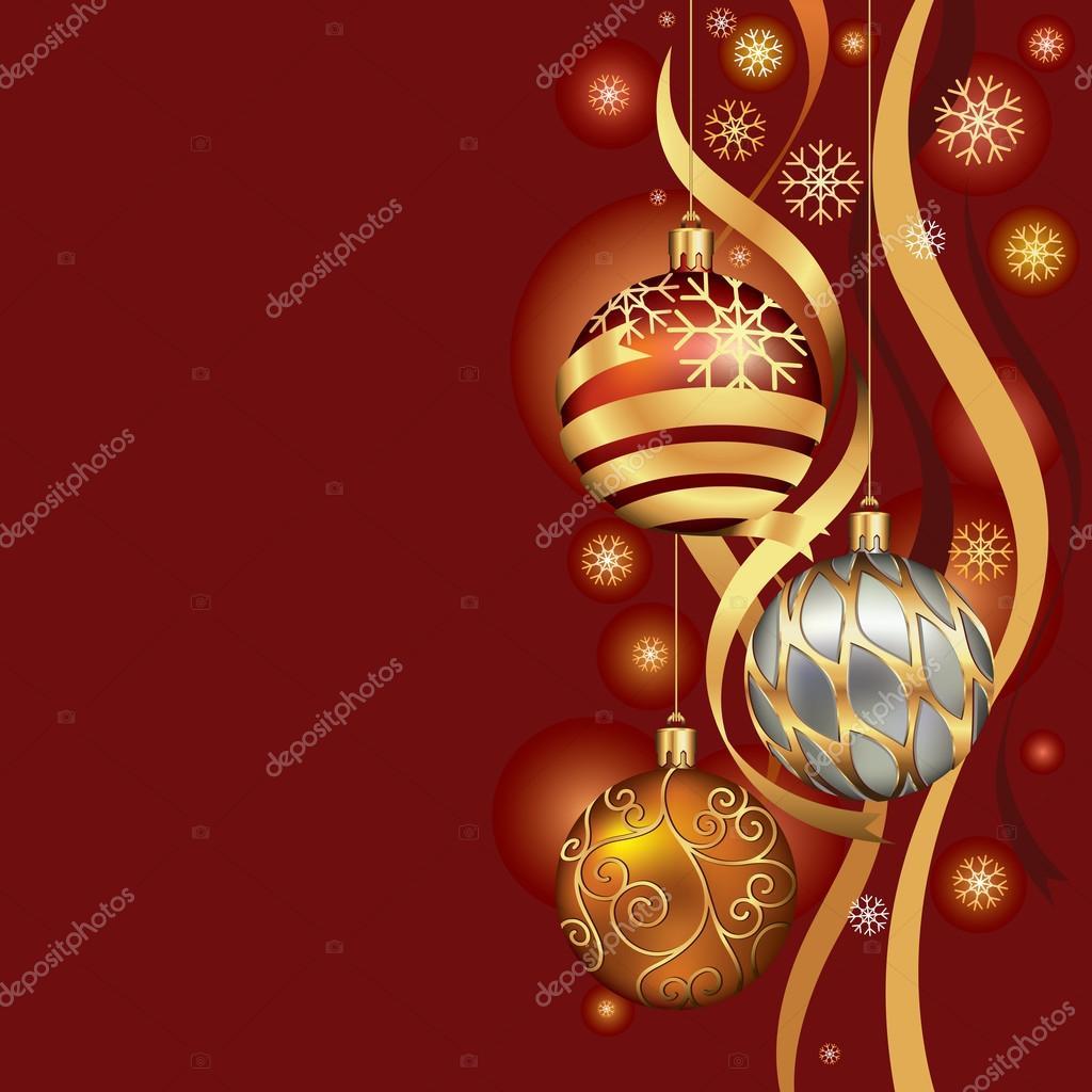 adornos navideos colgantes sobre fondo de hilo de oro ilustracin vectorial u vector de